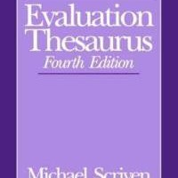 evaluation-thesaurus-michael-scriven-paperback-cover-art