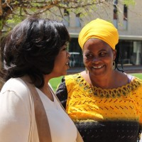Tererai Trent with Oprah Winfrey in South Africa